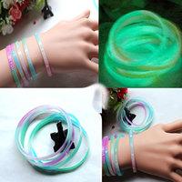 Multicolour HARAJUKU neon color luminous soft rubber silica gel hand ring hand ring bracelet
