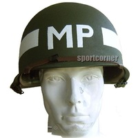 New Replica WW2 M1 metal Helmet MP for hunting airsoft paintball