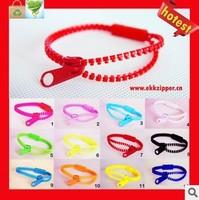 Harajuku neon color zipper style bracelet hand ring bracelet