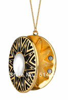 . House of Harlow Tribal Locket with Cabochan Pearl Necklace free shipping wholesale/retailer