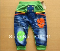 2013 hot selling Hitz skull boy pants Korean children clothing baby trousers wholesale 3 colors 4 pcs/lot
