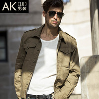 2013 autumn jacket vintage tooling jacket male jacket outerwear