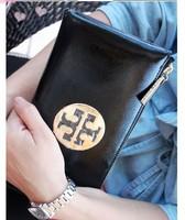 fashion female long design genuine leather zipper clutch bag high quanlity handbag