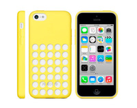 Fashion Luxury Candy Color Silicone Case with holes For Iphone 5C back cover for iPhone 5c mix style free drop shipping