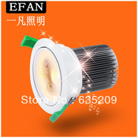 Free Shipping Energy Saving Recessed LED Downlight Fixture Surface Mounted LED Lamps Bulbs Lights Dimmable 90mm Cutout Size