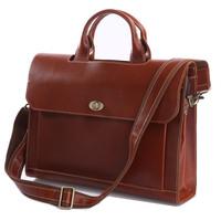 Vintage Genuine real leather Men buiness handbag laptop briefcase shoulder Travel bag / man messenger bag JMD7166-410