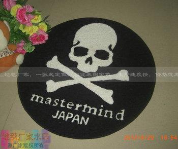 Trend mastermind japanmmj logo skull handmade acrylic carpet door mats
