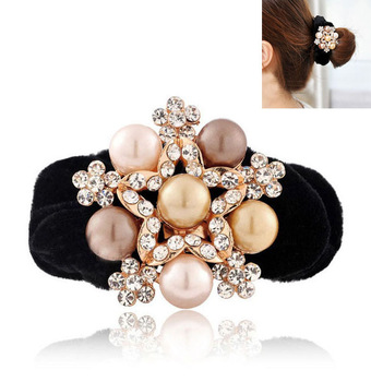 New Arrival Winter Lint Rhinestone Flower Hair Accessaries Gold Plated Crystal Hairband Stretch Hairdisk Fashion Jewelry SF218