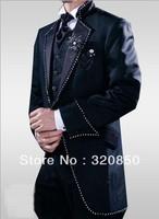 Free shipping/2014 top sellcheap /new style Custom made Set auger Men's Suits Groom Tuxedos Wedding Groomsman Bridegroom dress