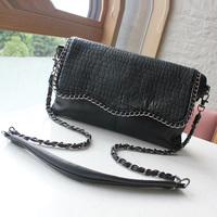 2013 women's handbag fashion black chain fashionable casual small bags women's messenger bag shoulder bag female