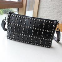2013 skull punk rivet vintage small bags all-match bag women's handbag messenger bag