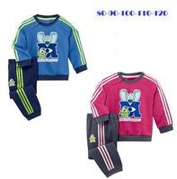 Hot sale!!! NEW 5set/lot children cothing sport set,Monster university boys and girls sets100% cotton long sleeve T+pants suit