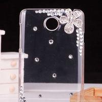 Crystal Five Flowers Luxury Rhinestone Diamond Design Hard Cover Bling Case for Lenovo A390