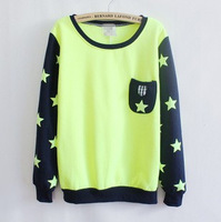 Free shipping 2013 casual little starssweatshirt spring and autumn  long-sleeve pocket outerwear