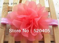 "Baby headbands 4.5""chiffon soft silk flowers headband for girls Rosette flowers petti skirt flowers headwear 24PCS"