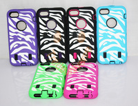 NEWEST 3 in 1 High hybrid Zebra Case for iphone 5C colorful case cover for Apple 5C 5pcs/lot free shipping