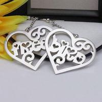925 sterling silver personalized locket earrings