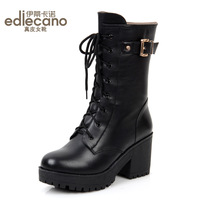 2013 fashion motorcycle boots platform martin boots genuine leather boots