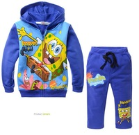 2013 New arrival children's suit(5pcs/1lot)boys suits 100%cotton hoodie+pants cartoon clothes boys autumn wear children clothing