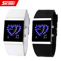 Free shipping Fashion led watch waterproof electronic watch lovers watch jelly