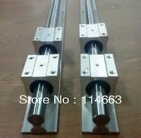 2pcs SBR16 L250mm Linear Bearing Rails 16mm linear shaft + 4pcs SBR16UU Linear Motion Bearing Blocks
