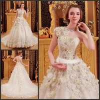 2013 bandage tube top wedding dress princess big train wedding dress xj7327