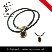 high quality fashion vintage style 1881 stainless steel agate necklace  for men QR-64