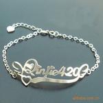 sterling silver custom made bracelets