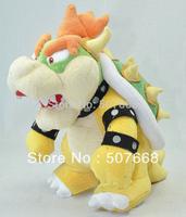 "Free Shipping New Super Mario Soft Bowser Plush Doll 10"" #1"