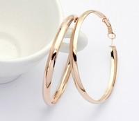 Italina Regent counter genuine classic wholesale earrings temperament plated 18K rose gold earrings big ear rings women