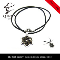 high quality fashion vintage style MBL stainless steel agate necklace  for men QR-69