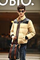 Free shipping Men Double Side Wear Thicken Winter Outdoor Windbreaker Men's Cotton Padded Jacket Sport Coat  ali326