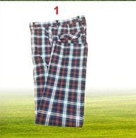 2013 spring and summer trousers, golf clothes, male trousers ,ball plaid pants