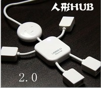 Usb extender 2.0 usb hub human shape hub splitter four hubs  audio cable