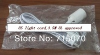 wholesale  free shipping UL approved IQ lamp   power cord us with on/off switch and E 26 lampholder and  12 feet long cable
