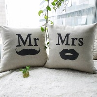 New arrival personality lovers cushion mr and mrs car cushion