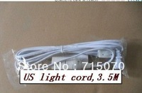 wholesale  free shipping UL approved IQ lamp   power cord with on/off switch and E 26 lampholder and  3.5 meter long cable