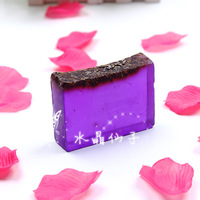 free shipping Natural skin care lavender essential oil soap  pore oil control whitening anti-inflammatory cleansing bath soap