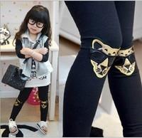 5pcs/lot  hot kids girls leopard pants, girls fashion cotton pants, elastic waist legging pants sping wholesale YY1602