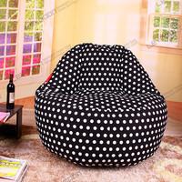 FREE SHIPPING 120CM black dot big bean bags bean bag sofa bean bags for sale 100% cotton canvas bean bags chairs