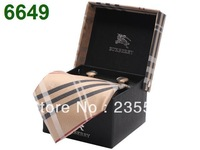 Luxury pointed bow tie Set cufflink hanky gift box with unique striped necktie gift high qulaity in stock ertical stripe necktie