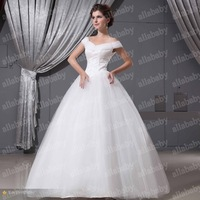Gorgeous Bridal Wedding Dress In Real Pictures Off-shoulder Tulle Bridal Gowns