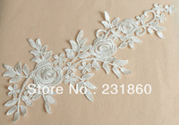3 Pcs Off White Flower Venise Lace Applique Floral Motif Sewing Trims Craft