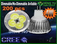 500pcs High Power CREE MR16 LAMP LED Spotlight MR16 4W 12V dimmable LED Bulb Lamp LED light LED Spotlight DHL FEDEX Free