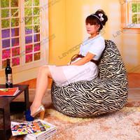 FREE SHIPPING bean bag couches 100CM diameter adult bean bag SUPER SOFT VELVET zebra bean bag chair
