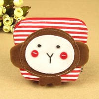 Canvas monkey decorate mini coin purse small coin case female wallets