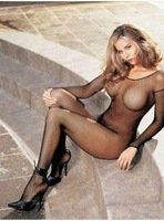 New women Sexy open crotch fishnet body stockings with sleeves Hot fashion Sexy Stockings Bodystockings Pantyhose W278