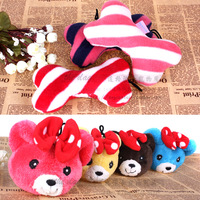 Plush bear pet toy dog sound toys toy small pillow bone