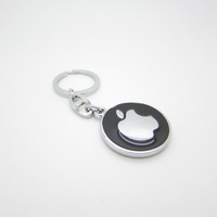 HOT SELLING! Free shipping 10pcs/lot  fashion apple car logo metal key chain keychain key ring keyring exquisite gift