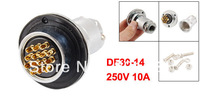14P 14 Pin Electrical Deck Aviation Cable Connector Plug 10A 250V